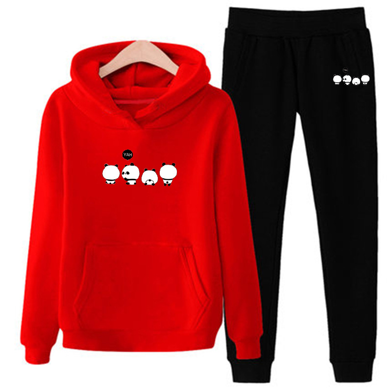 Autumn And Winter New Style Couples Sports Clothing Men And Women Leisure Suit 209 Korean-style Fashion Hoodie Two-Piece Set
