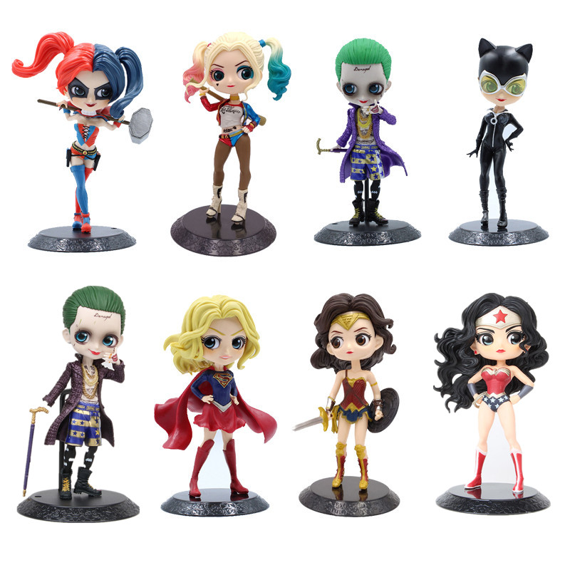 Lensple Comics Q posket <font><b>Sexy</b></font> figure Catwoman Harley Quinn the Joker Wonder Woman figure QPosket Model Toys christmas gift image