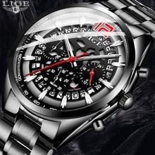 relogio masculino 2019 New Top Brand LIGE Men's Watches Unique Style Quartz Men