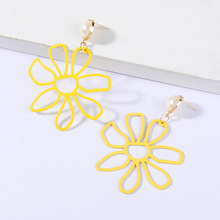 Wild Earrings Personalized Temperament Europe and America Exaggerated Big Flower Female Korean Hipsters