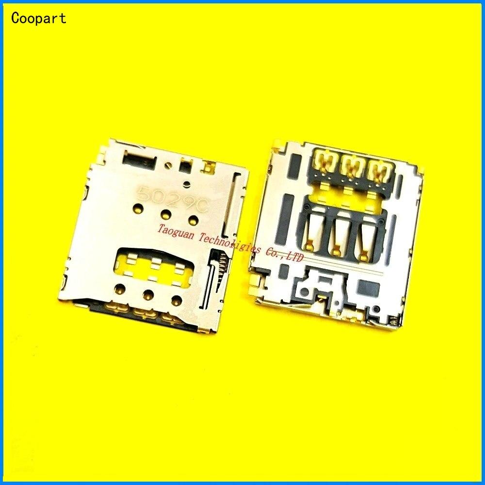 2pcs/lot Coopart New SIM Card Socket Reader Tray Holder Slot For SONY T3 M2 S50H M50W D5102 D5103 D5106 D2303 D2305 D2306