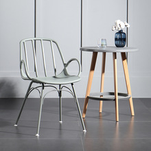 Nordic INS Plastic Chair Restaurant Dining Chair Restaurant Office Meeting Outdoor Family Bedroom Learning Armrest Lounge Chair