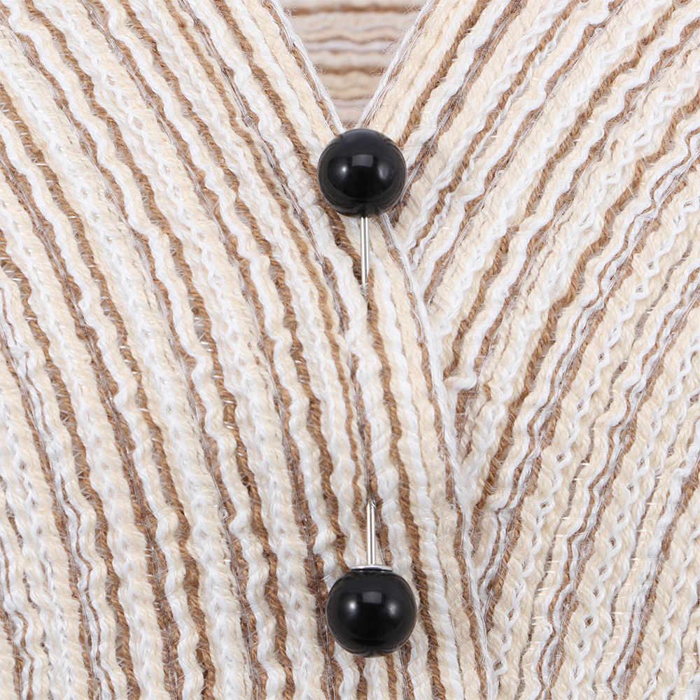 1 2pc セーターブローチ実用チャームダブルイミテーションパールスティックピン安全ピン女性の布コートバッジジュエリーアクセサリー