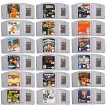 64 bits jogo de vídeo cartucho jogos console cartão arco íris seis inglês idioma eua versão para nintendo