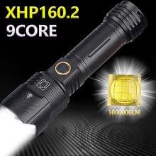 1000000LM puissante lampe de poche XHP160.2 LED XHP50.2 étanche Zoom torche 5Modes USB Rechargeable utilisation 18650/26650 batterie 5000mAh