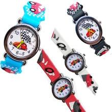 Cartoon Car Racing Story Quartz Children's Watch Silicone St