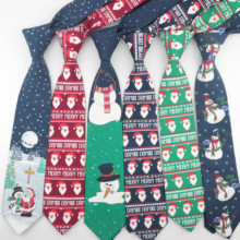 Hot New Sell Christmas Tie Men's Fashion Casual Snowflake Print Cotton Ties Snowman Professional Pattern Necktie 8cm Width