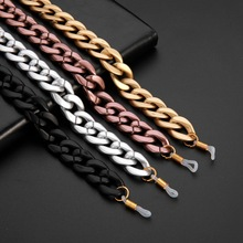 Teamer Retro Acrylic Glasses Chain Lanyards Matte Gold Color Reading Glasses Hanging Neck Chains Sunglasses Chain Straps