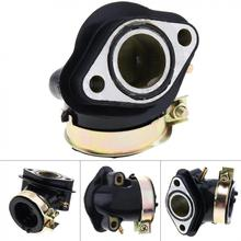 цена на GY6125 GY6 110cc Intake Pipe of Beach Car Motorcycle Carburetor Joint Manifold Pipe Boot Holder  for  Moped Scooter ATV Go Kart