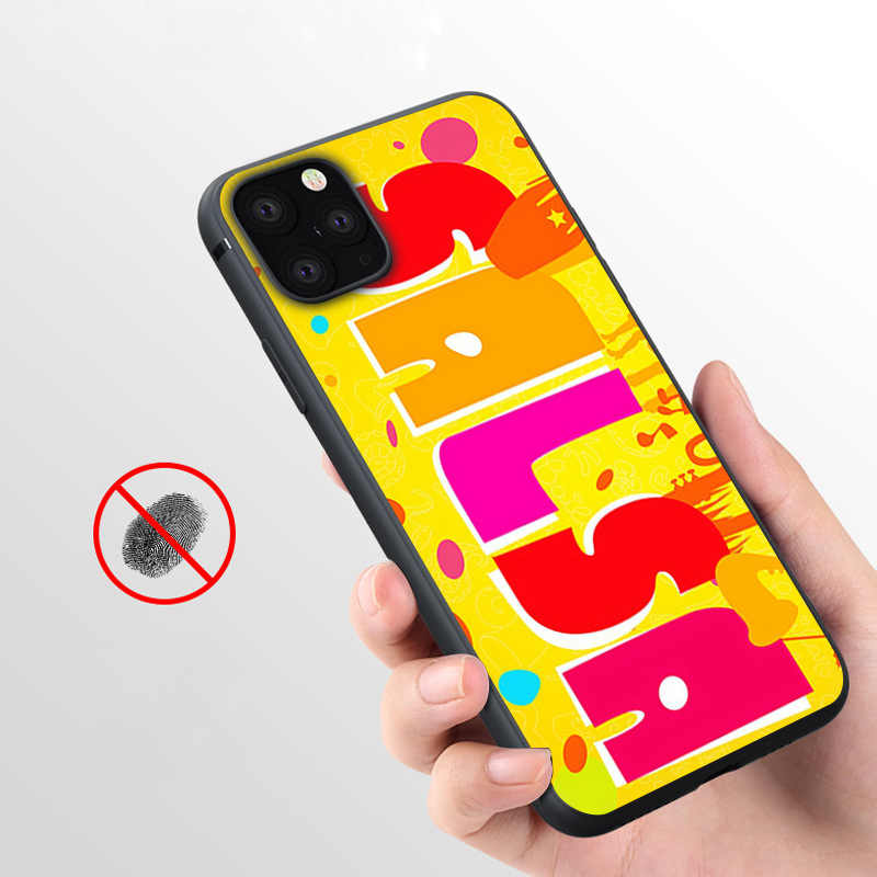 Coque Yellow Salsa Pic  Soft Silicone Phone Case for iPhone 11 Pro Max X 5S 6 6S XR XS Max 7 8 Plus Case Phone Cover