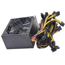 ATX Pc PFC 2000 Вт 110-240 в блок питания 8 видеокарт Ethereum ETH BTC Майнер Antminer Psu