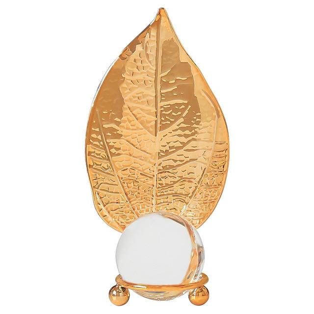 скандинавский светильник роскошный золотой хрустальный шар лист фотография