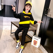 Autumn Children Clothing Cartoon Girls Sets Long Sleeve Tracksuit For 3- 13 Years old Girls Clothes Sport Suit Kids Clothes Sets cheap JXDHN Active Hooded COTTON Full Raglan Sleeve Fits smaller than usual Please check this store s sizing info Letter