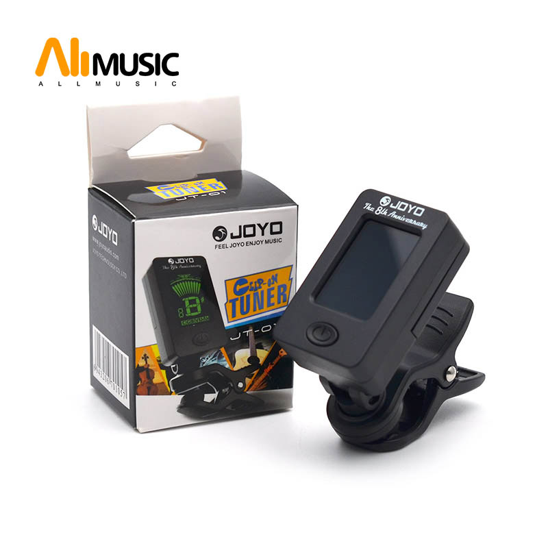 JOYO JT-01 LCD Clip-on Guitar Tuner Bass Tuner Violin Tuner Ukuele Chromatic Universal 360 Degree Rotatable Sensitive
