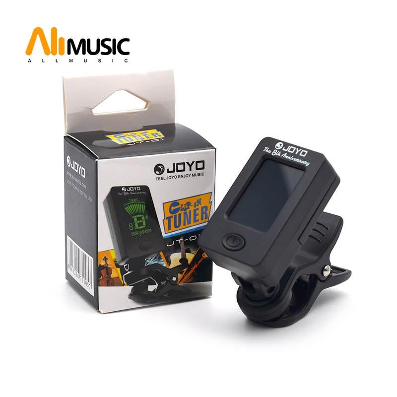 JOYO JT-01 LCD Clip-on Guitar Tuner Bass Tuner Violin Tuner Ukuele Chromatic Universal 360 Degree Rotatable Sensitive