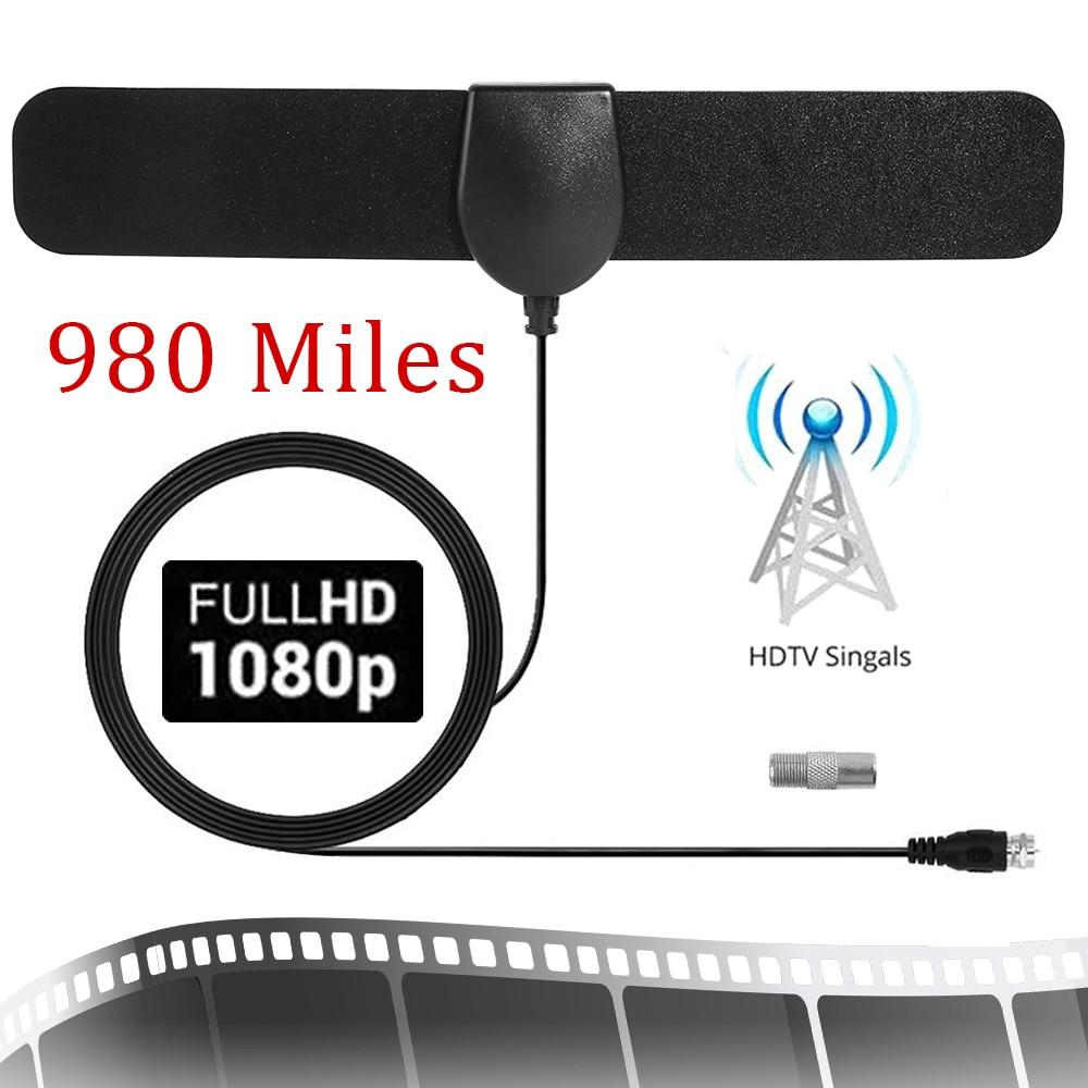 1080P High Gain 20 DBi 980 Miles Range HDTV Indoor TV Antenna DVB-T2 Digital Amplifier Aerial Indoor Digital TV-Antenna