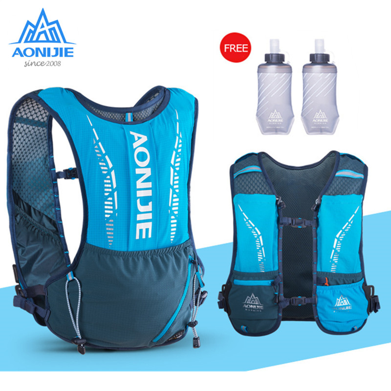 AONIJIE Ultra Vest 5L Hydration Backpack Pack Bag Soft Water Bladder Flask Set For Running Hiking Trail Marathon Race C9102