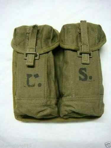 Tomwang2012. Overschot Us Army Militaire Stijl Twee Cellen Canvas Magazine Pouch Army Collectibles Militaire