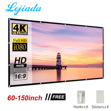 LEJIADA Projector Projection Folding Soft Screen Portable 60 72 84 100 120 150 Inches Home Outdoor KTV 3D HD Projection Screen