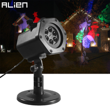 ALIEN 12 Slide LED RGB Waterproof Projector Lamp Christmas Snowflake Star Effect Outdoor Garden Xmas House Decoration Lighting