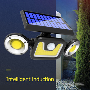 Multi-functional 3 Heads 83 COB LED Rotation Wall Light Outdoor Yard Practical Durable Motion Sensor Security Lamp High Quality(China)