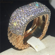 Choucong Vintage Weiblichen Versprechen Ring Pflastern AAAAA cz 925 Sterling Silber Hochzeit Band Ringe für frauen Erklärung Partei Schmuck