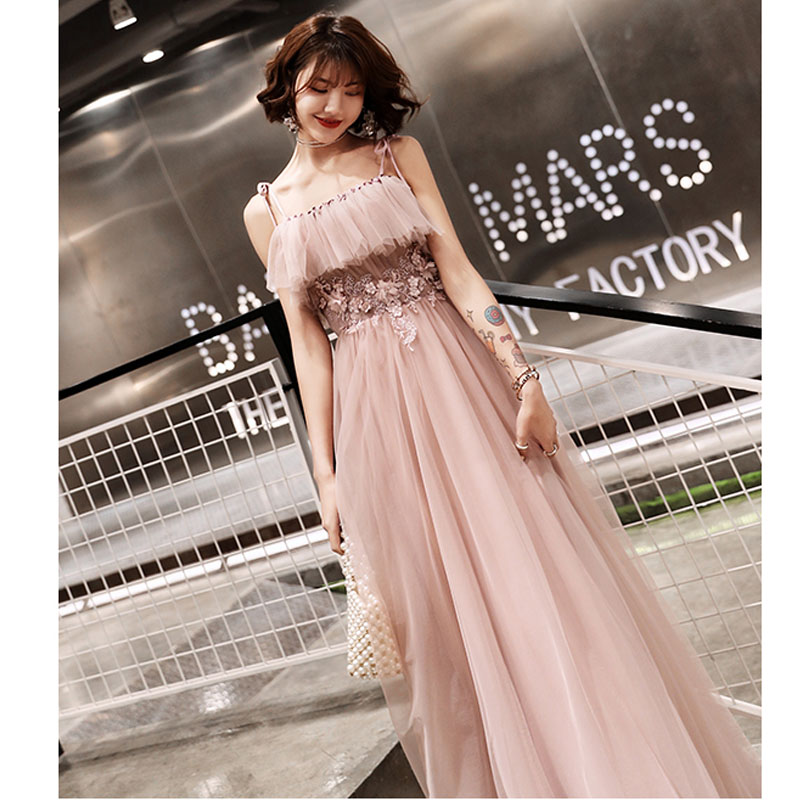 Evening Gown Sling Sleeveless Robe De Soiree E733 Sexy Backless Floor Length Fromal Dress 2019 Boat Neck Crystal Evening Dreses