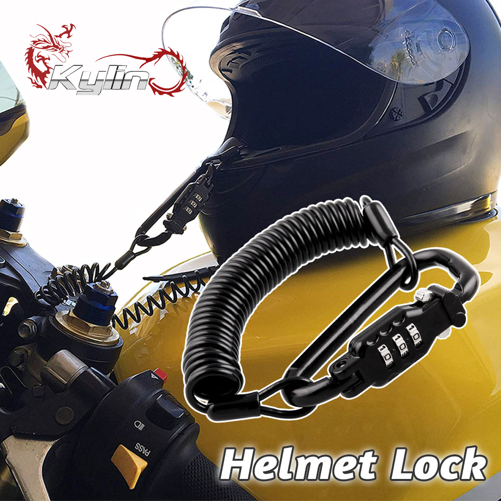Motorcycle Helmet Lock Portable With Three-digit Anti-theft Password Lock Secret PIN Code Fit For Universal