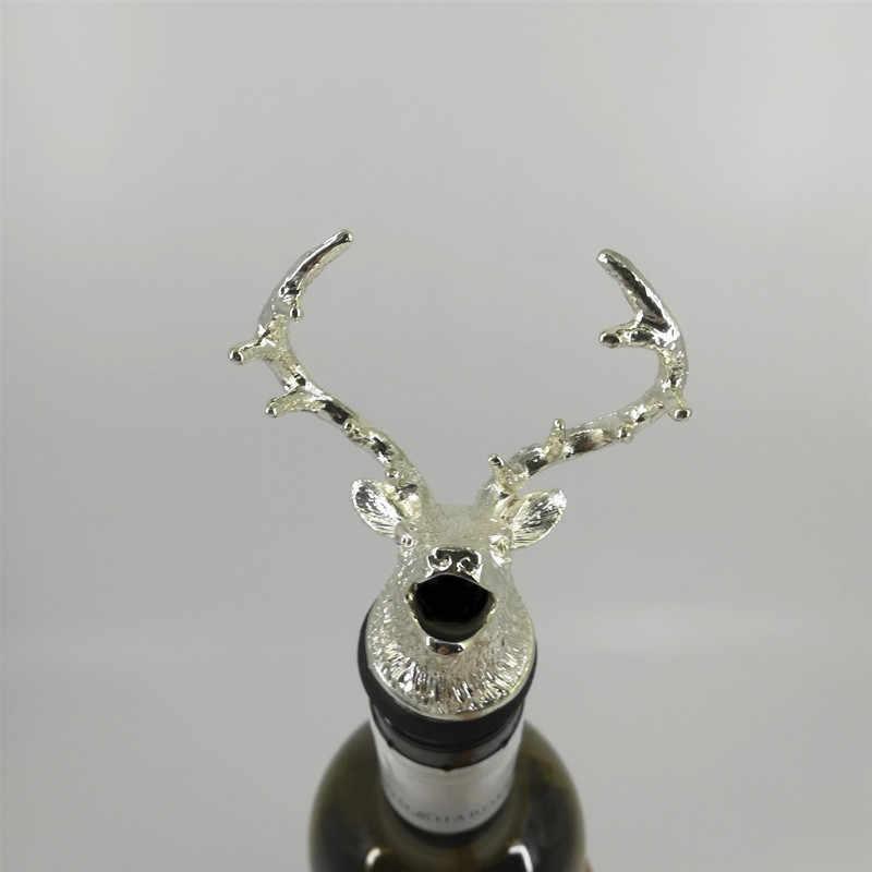 Paduan Seng Rusa Kepala Rusa Anggur Pourer Anggur Unik Botol Sumbat Anggur Aerator Bar Tools