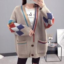 цена на Christmas Sweater Woman Winter Coats 2019 Women's Sweater Knit Cardigan Sweaters Pocket Cardigan Women