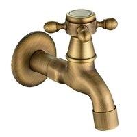 Antigo vintage fixado na parede de bronze swivel knob torneira água torneiras do jardim banheiro bacia torneira mop máquina água|Extensores de torneira| |  -