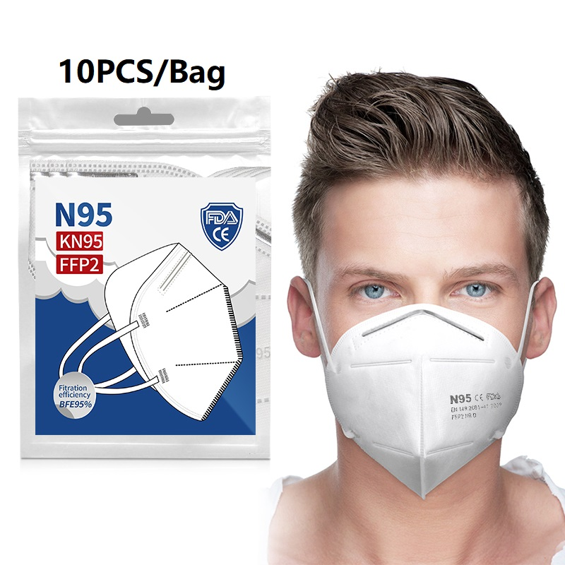 10-200pcs Face Mascarillas Anti Dust Bacterial Mouth Muffle Cover Mascarillas With 6-layer Dustproof Protective Filtration