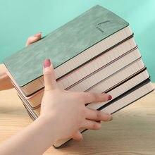 Cuaderno de cuero de imitación de piel de oveja, cuaderno suave A5, planificador de semana, suministros de oficina y escuela, Bloc de notas, 2021