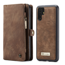 Retro Leather Magnetic Wallet Case For Huawei P30 Pro With Card Holder Detachable Cover Lite