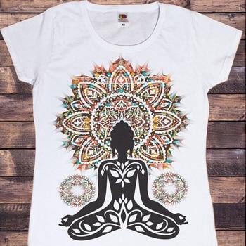 Новинка 2020, женская футболка Azteque yogaдрессировка, Будда, чакра, медитация, дзен, Хобо, бохо, мирный Топ, женские футболки, женская одежда, сайт алиэкспресс в рублях