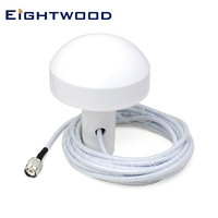 Eightwood Marine GPS Antenna GPS Navigation Aerial Mushroom 5 m with TNC Male Plug Connector for Furuno GPS Receiver