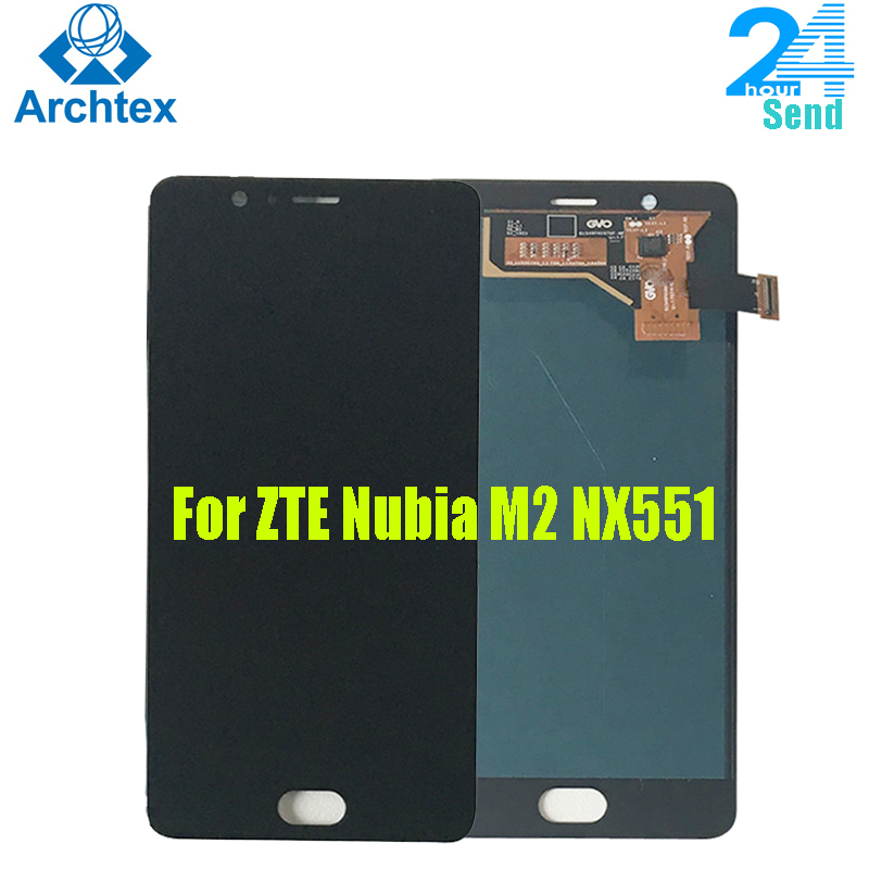 For ZTE Nubia M2 <font><b>NX551J</b></font> LCD Display +Touch Screen Digitizer Assembly Replacement Parts 5.5 inch For ZTE nubia M2 +Tools image