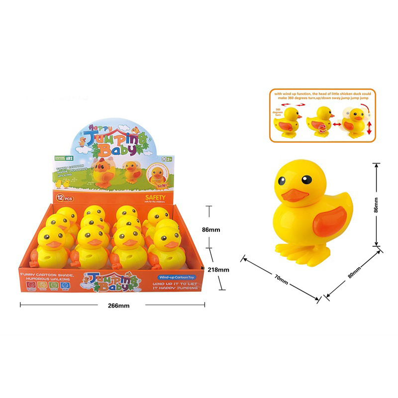 Children'S Educational Toy Spring Small Toy Model Jumping Duck Jump Duckling Play Winding Jump Duck Stall Hot Selling