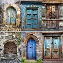 Photographic Backdrops Brick Scenery Portrait Baby Children Door Wall for Old-Stone Vintage
