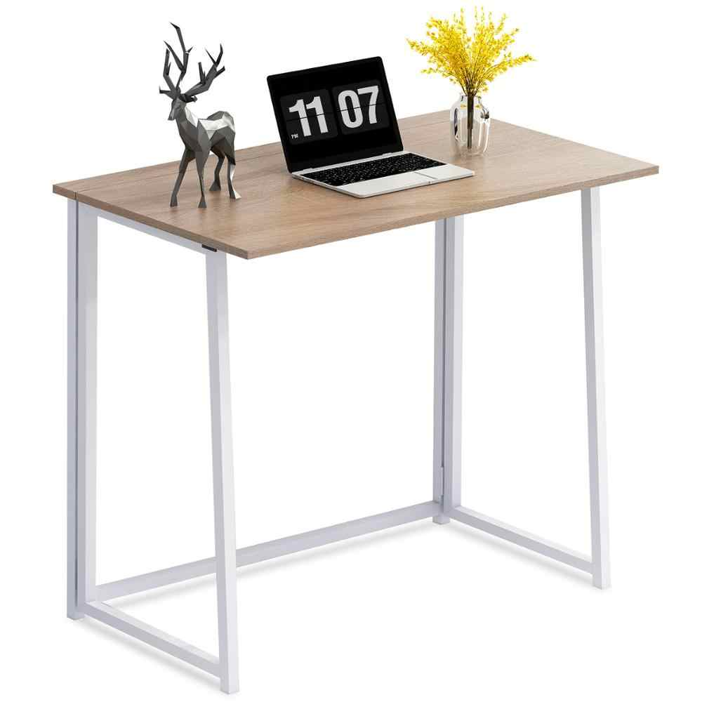 Folding Desk No Assembly Small Computer Desk Home Office Desk