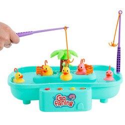 Edukacyjne dla dzieci zabawki z muzyką dla dzieci gry dla dzieci z wodą obrotowe wędkowanie kaczątko interaktywna gra Holiday Gif w Wkł. do butów od Sport i rozrywka na