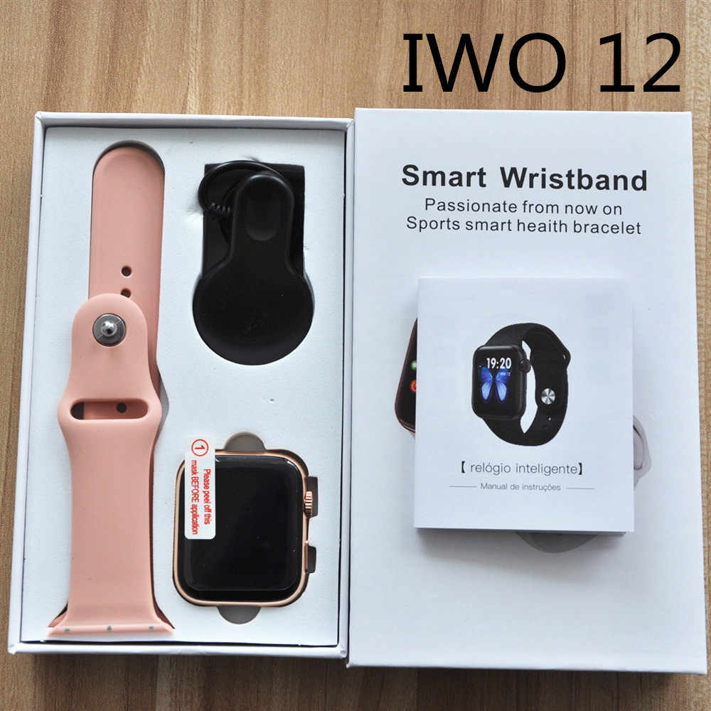Baru Iwo 12 Pro Lite Sarang Lebah Bluetooth Call Smart Watch EKG Monitor Detak Jantung IP67 Tahan Air untuk Android IOS PK F18