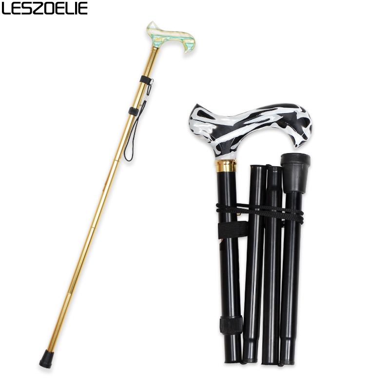 6 Colors Acrylic Handle Foldable Fashion Walking Stick Man Luxury Decorative Cane Women Adjustable Stick Folding Walking  Canes