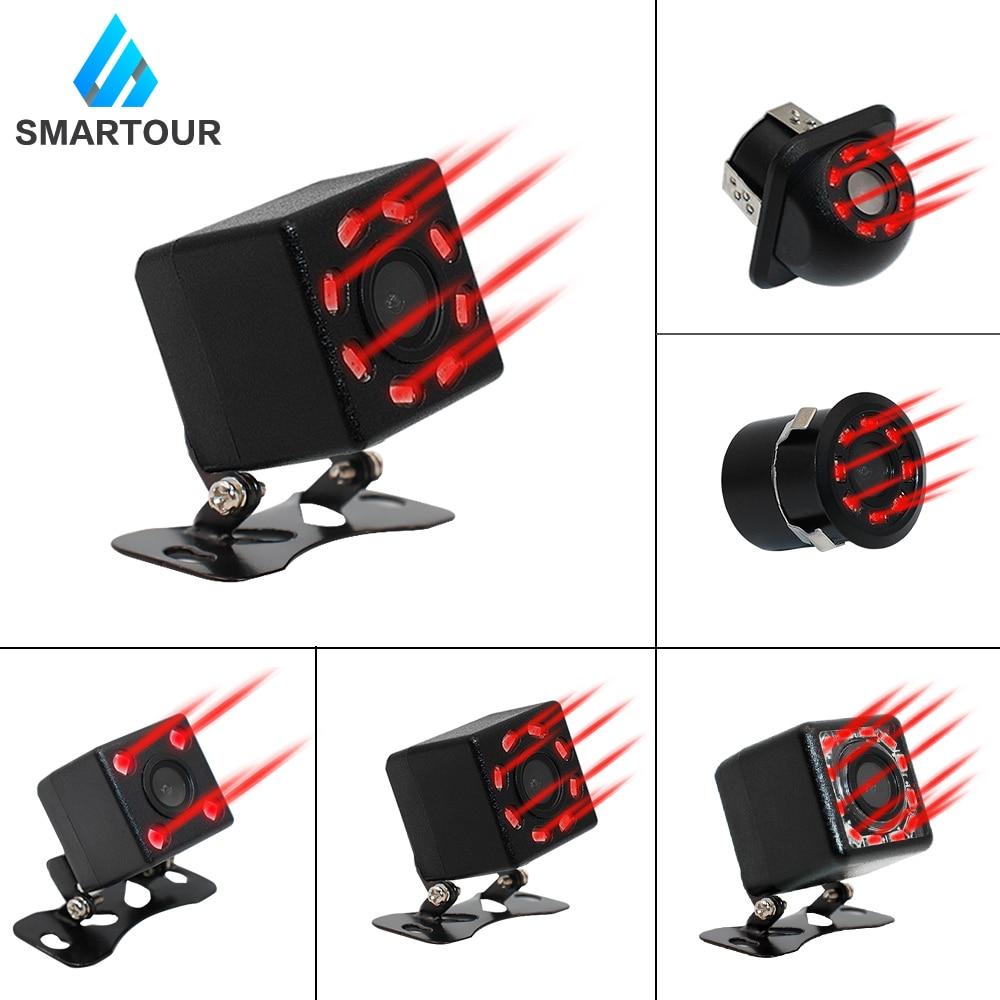 Smartour tylna kamera samochodowa 8 widzenie nocne LED szeroki kąt kolor HD obraz wodoodporna uniwersalna kamera cofania Parking
