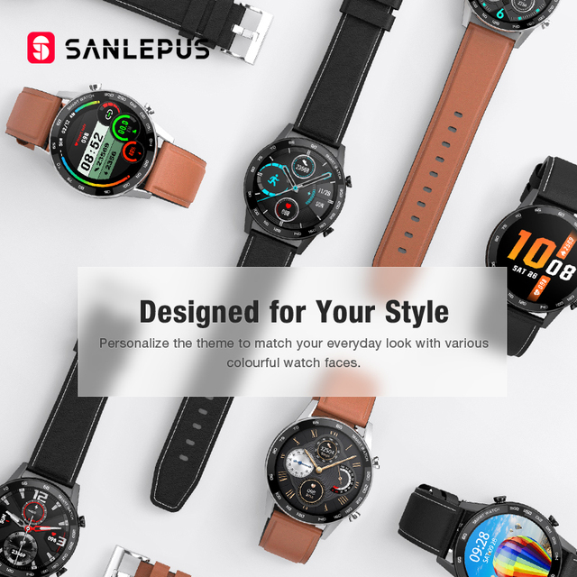 2021 SANLEPUS Smart Watch Bluetooth Call Smartwatch For Men IP68 Waterproof Watches Men's Wristwatch For Huawei Android iPhone 5