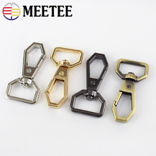 Meetee 4/10pcs 20mm Metal Bag Snap Hook Clasp Buckle DIY Luggage Leather Dog Collar Hardware Buckles Accessories Craft BD448