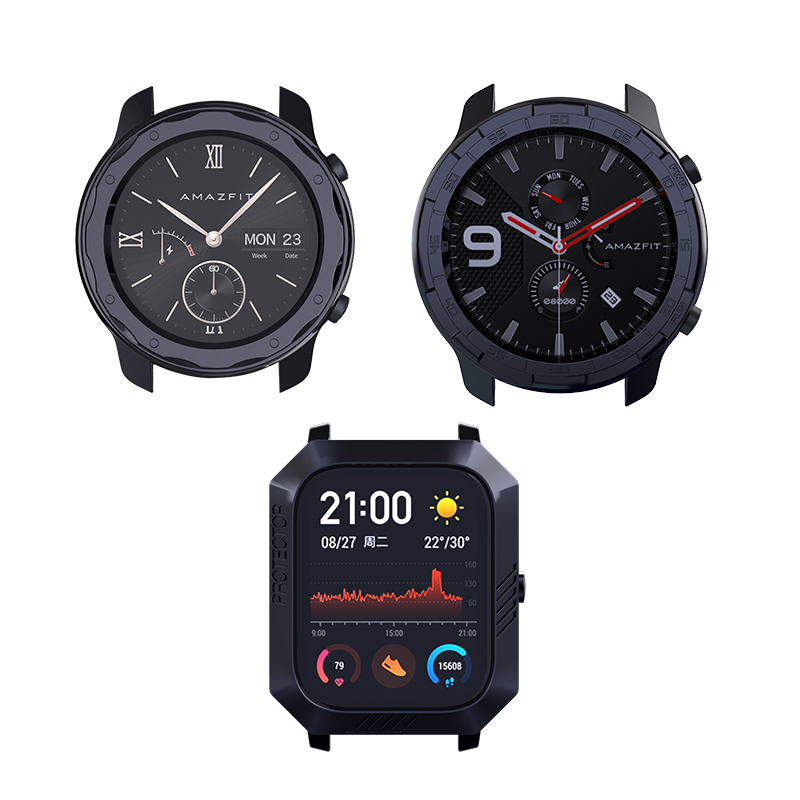 Tough Armor Plating Case Cover For Amazfit GTS GTR 42mm 47mm SIKAI CASE 2020 Newest Plating Customize Watch Case