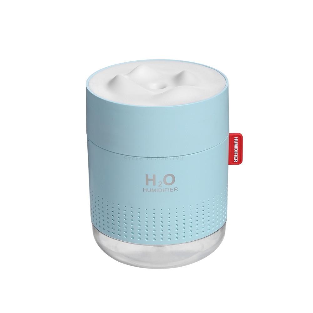 Небольшой ночной Светильник Usb Capped с функцией очистки воздуха, увлажнитель воздуха в спальне, Рабочий стол для работы в офисе, увеличит влажность - Цвет: blue