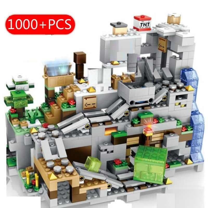 1208PCS Blocchi di Costruzione Legoinglys Minecraftinglys Villaggio Città Albero di Casa i Kit della Serie Figure Giocattoli Educativi Per I Bambini