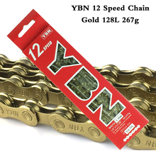 YBN 12 Speed Bike Chain MTB Mountain Bike Road Bicycle 12S Gold Chains For Shimano Sram Campanolo 12 Speed system ybn bicycle titanium ultralight chains mtb mountain road bike 11 speed bicycle chain 116 links for shimano campanolo sram system